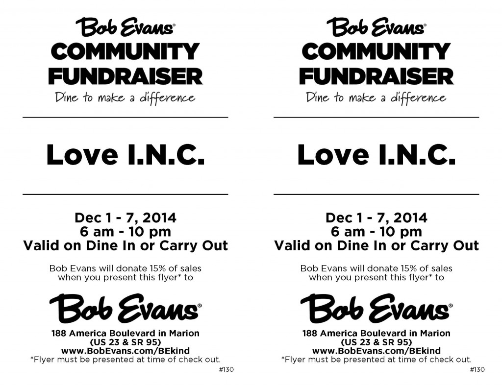 Bob Evans Coupon Flyer Dec 2014