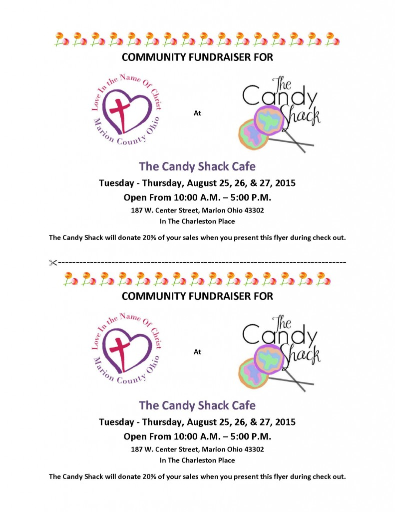 Community Fundraiser For The Candy Shack 2015